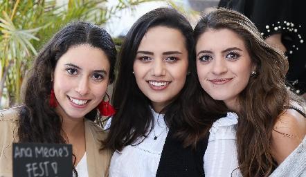Paola Córdova, Arantxa Pérez y Paola Gutiérrez.
