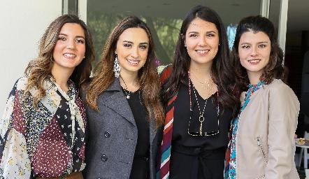 Mimí Navarro, Bárbara Cadena, Diana Villanueva y Daniela Meade.