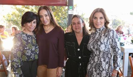 Adriana Sánchez, Lorena Herrera, Mónica Córdoba y Susana Herrera.