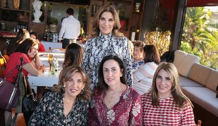 Susana Herrera, Alicia de Alba, Verónica Zepeda y Verónica Herrera.