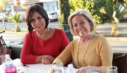 Graciela Manzano y Ana Lu Medina.