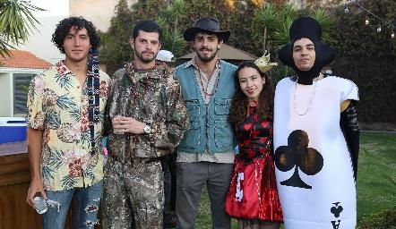 Ignacio Aguilar, Paulo Meade, Santiago Meade, Natalia Hermosillo y Ernesto López.