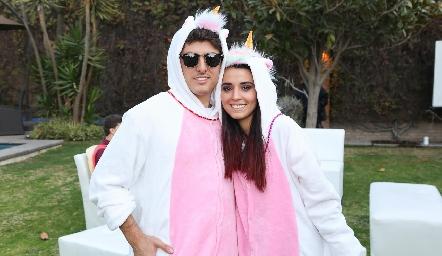 Juan Carlos Navarro y Brenda Aguilar.