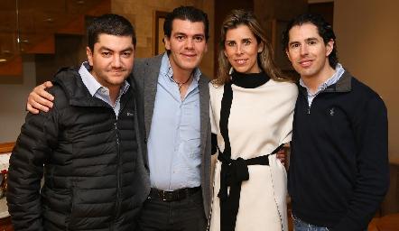 Fernando Vivanco, Diego Vivanco, Sara Guzmán y Víctor Guzmán.