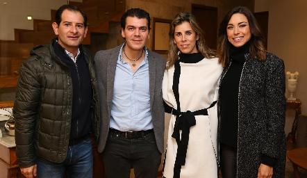 Luis Felipe Gómez, Diego Vivanco, Sara Guzmán y Alejandra Muñoz.
