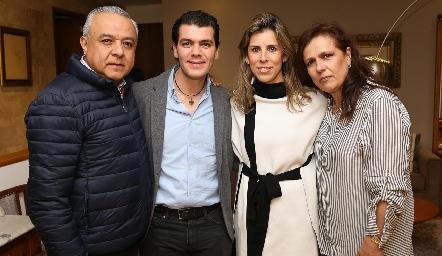 Juan Carlos Magdaleno, Diego Vivanco, Sara Guzmán y Martha Martínez.