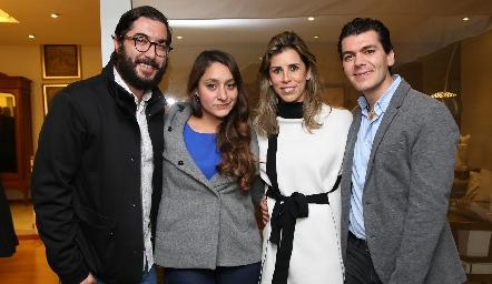 Pablo González, Ilse Sánchez, Sara Guzmán y Diego Vivanco.