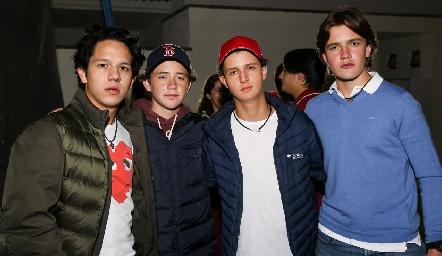 Rolando Fernández, Jacobo Payán, Braulio Romero y Alonso Rico.
