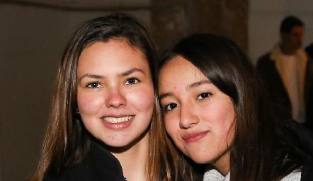 Renata Acevedo y Ximena Escamilla.