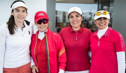 Mariana Palazuelos, Lidy Heinze, Cristy Gálvez y Lorena Mendoza.