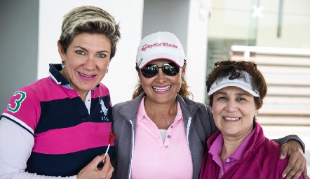 Margarita Padilla, Patricia Lara y Miriam Bravo.