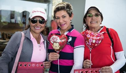 Patricia Lara, Margarita Padilla y Coco Rangel.