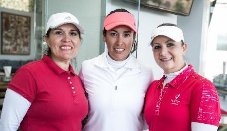 Cristy Gálvez, Fabiola González y Dafne Montejano.