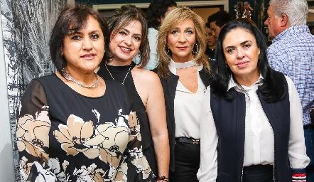 Ruth de la Torre, Rocío Scheckaibán, Cristina Córdova y Julia Marín.