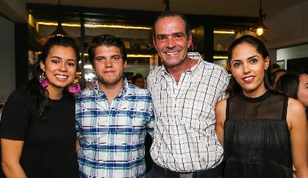 Sofía Milán, Ricardo de la Torre, Juan Cuétara y Ana Villanueva.
