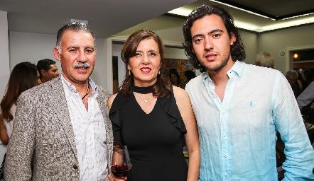 Francisco Correa, Marcela Milán y Daniel Correa.