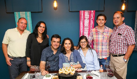 Omar Cuevas, Jofe Correa, Víctor Lomelí, Sandra Correa, Ale Siller, Mauricio Lomelí y José Antonio Correa.