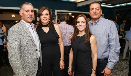 Francisco Correa, Marcela Milán, Diana Guel y Rafael Olvera.