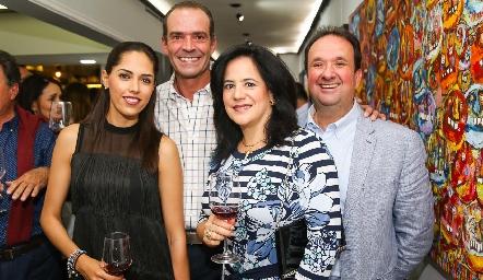Ana Villanueva, Juan Cuétara, Marcela del Peral y Héctor Hinojosa.