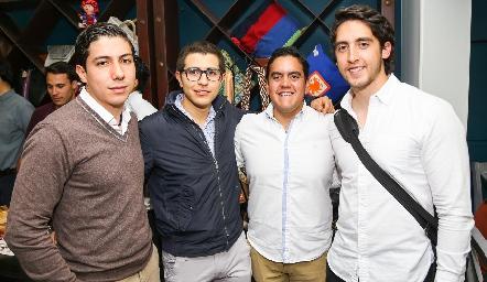 Roberto Michel, Gonzalo Chávez, Víctor Martínez y Rodrigo Zertuche.