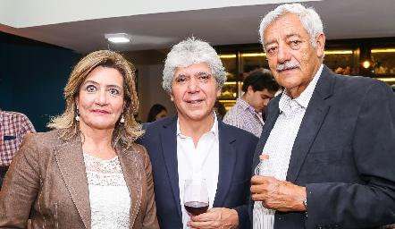 María del Carmen de la Rosa, Hugo Castillo e Ignacio Ortega.