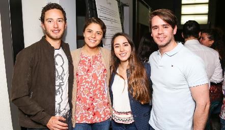 Marcos Del Valle, Claudia Miranda, Lorena Cuadra y Eduardo Álvarez.