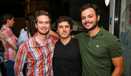 Alejandro Gómez, Juan Carlos Navarro y Daniel Medina.
