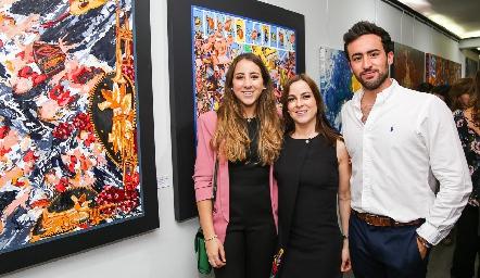Diana Olvera, Diana Guel y Rafa Olvera.