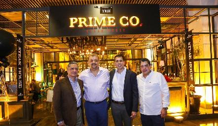 Armando Rubio, Jairo Santiago, Emmanuel Marín y Ricardo Méndez, Socios de Prime Co.