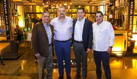 Armando Rubio, Jairo Santiago, Emmanuel Marín y Ricardo Méndez.