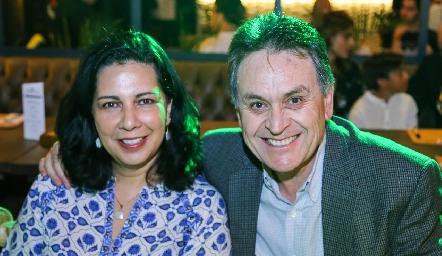 Liliana González y Alejandro Guerrero.