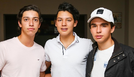 Juan Pablo Dip, Estanislao Hernández y Eduardo Siller