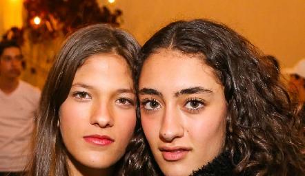 Fantine y Luciana Abud.