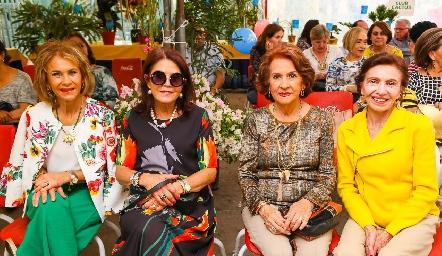 Gloria Estrada, Lourdes Bustos, Licha Carreras y Ina Rossel .