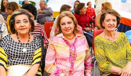 Lula Hernández, Silvia Esparza y Martha Abaroa.
