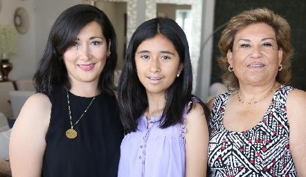Emily Reina, Diana Reyna y Lupita Romero.