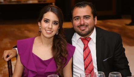 Alejandra O´Farril y Salvador Guerra.
