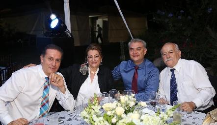 En la boda de Rodrigo y Ana Paty.