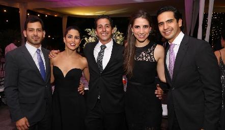 Arturo Hernández, Daniela González, Andrés Chávez, Valeria Zúñiga y Héctor Hernández.