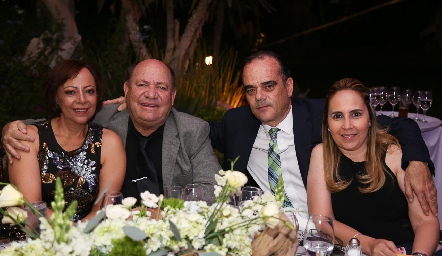 Edith Rivera,Francisco Cabral, Alejandro Delgado y Claudia Cohen.
