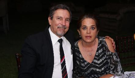 Alejandro Barragán y Lourdes Rangel.