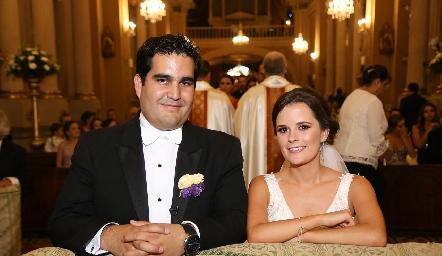 Rodrigo Poumian y Ana Paty Meade ya son esposos.
