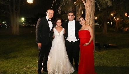 Manuel Zacarías, Ana Paty Meade, Rodrigo Poumiany Elena Meade.
