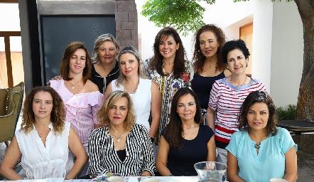 Alejandra Ávila, Aurora García, Carla Saucedo, Elia Padilla, Lorena Herrera, Martha Eugui, Karina Navarro, Mimí Hinojosa, Elsa Tamez y KikisFernández.