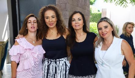 Alejandra Ávila, Lorena Herrera, Elsa Tamez y Carla Saucedo.