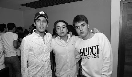 Juan Pablo Chevaile, Padilla y Diego Castillo.