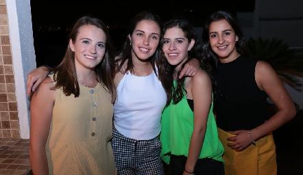 María Emilia Meade, Valeria Navarro, Vanessa  Correa y Lorea Gómez.