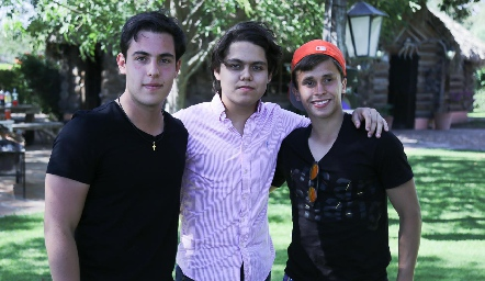 Juan Pablo Ascanio, Carlos Rosales y Luis Tinajero.