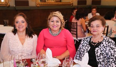 Gabriela Meade, Heidi Ruiz y Laura del Castillo.