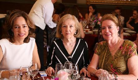 Ana Luisa Acosta, Margarita del Valle y Rosa Elena Navarro.